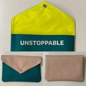 """IPSY  Pink/Green Mini Bag 5"""" x 7"""""""